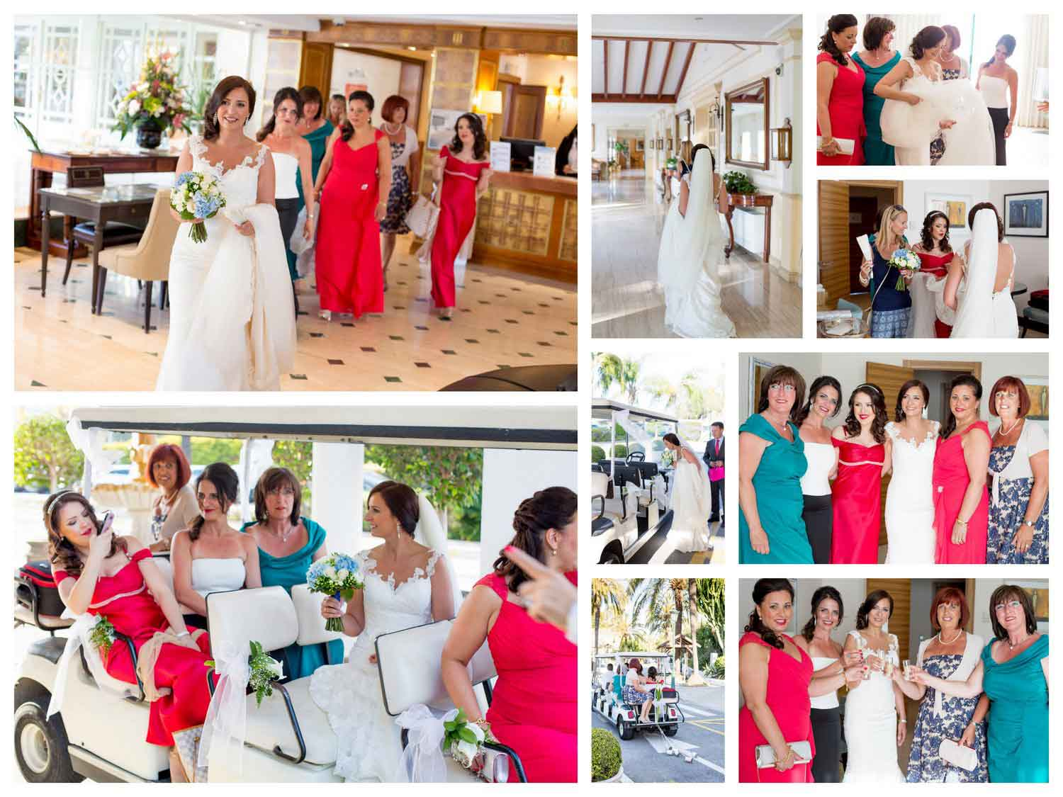 Getting ready wedding marbella